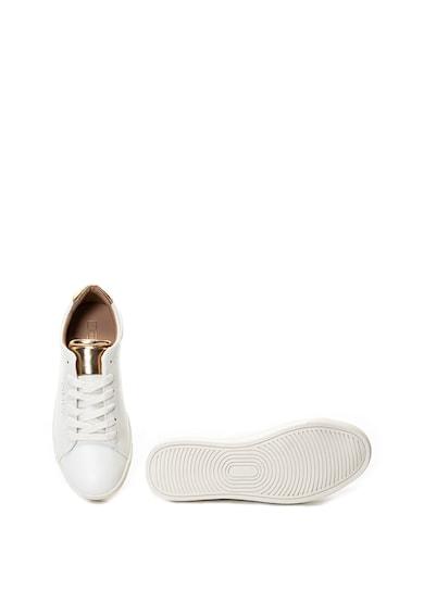 Only Silja műbőr sneakers cipő fémes hatású részletekkel női