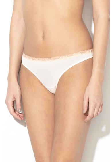 ESPRIT Bodywear Chiloti tanga cu insertii de dantela Lismore Femei