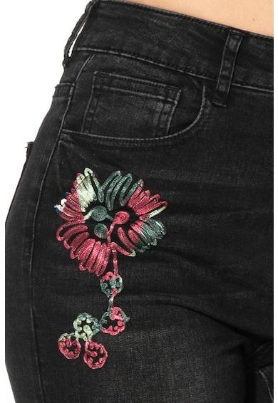 DESIGUAL Blugi skinny cu aplicatii florale Atenas Femei