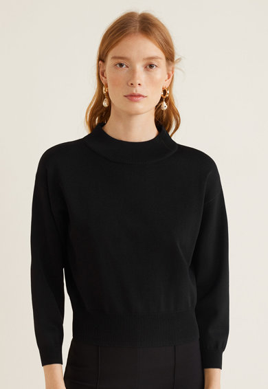 Mango Pulover din tricot, cu striatii Square Femei
