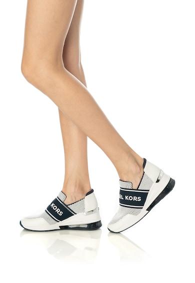 Michael Kors Felix bőr és textil telitalpú bebújós sneaker női