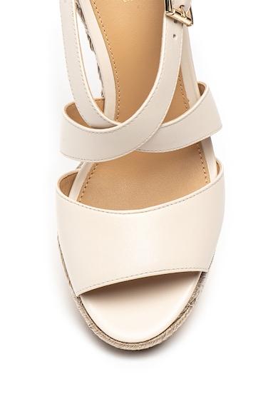 Michael Kors Кожени сандали със скосена платформа Жени