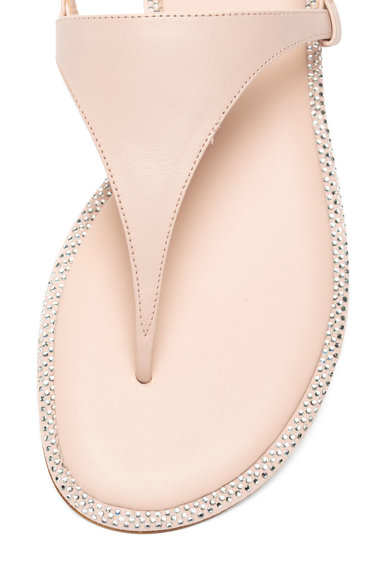 Michael Kors Кожени сандали Enid с декоративни камъни Жени