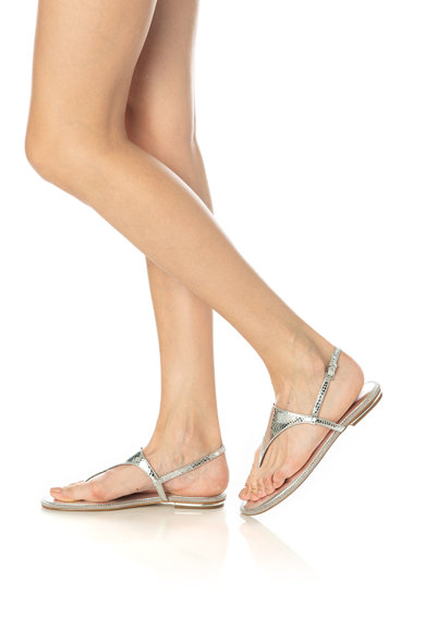 Michael Kors Enid ujjelválasztó-pántos bőrszandál női