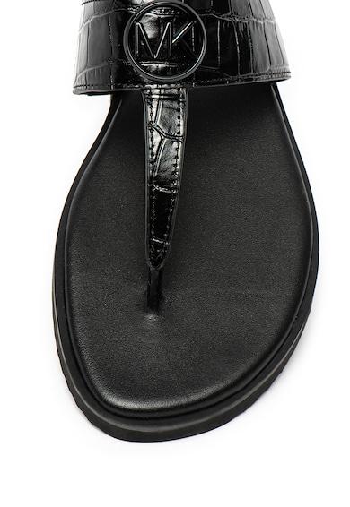 Michael Kors Papuci flip-flop de piele, cu logo Lillie Femei