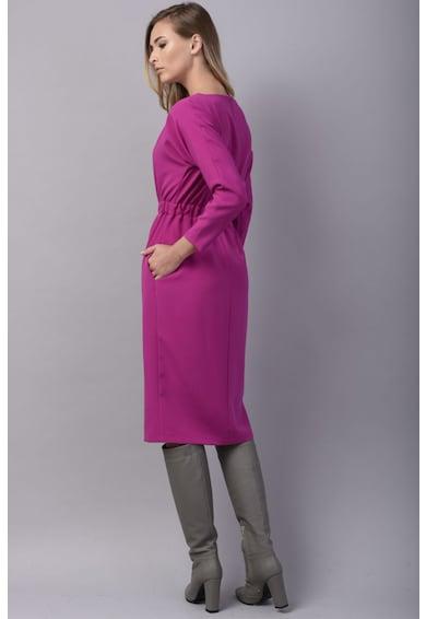 Couture de Marie Rochie midi cu decolteu barcuta Femei