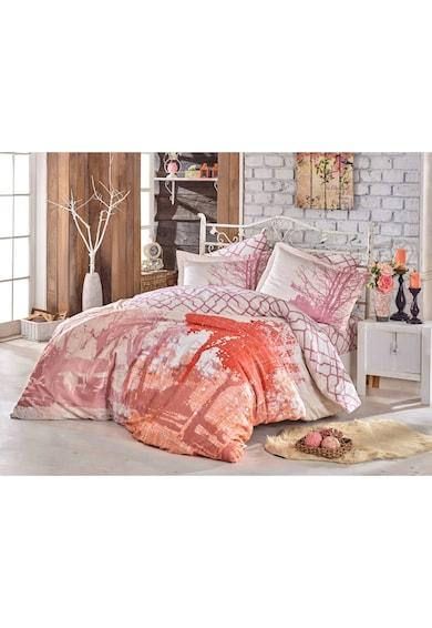 Hobby Lenjerie de pat Cotton Box, 100% bumbac satinat, 200x220 cm, roz/ocru Femei