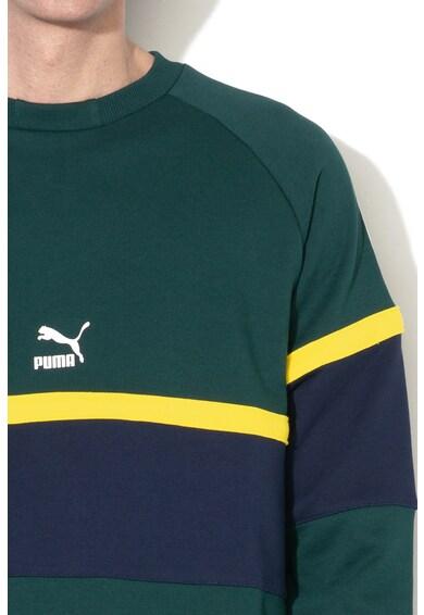 Puma Bluza sport colorblock cu decolteu la baza gatului si detalii contrastante XTG Barbati