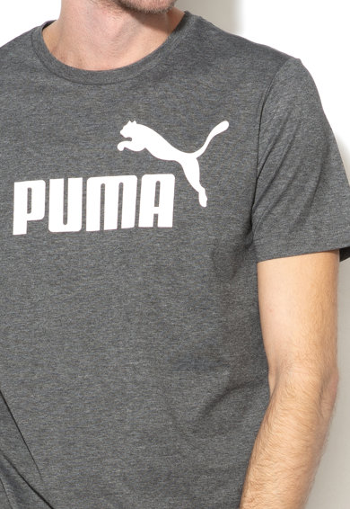 Puma Tricou regular fit cu imprimeu logo Essentials Heather Barbati