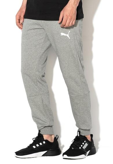 Puma Pantaloni sport cu imprimeu logo, pentru fitness DryCell Barbati