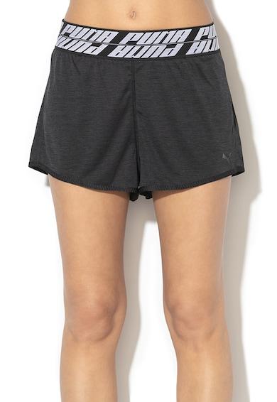 Puma Pantaloni scurti cu banda in talie cu logo, pentru antrenament Own It Femei