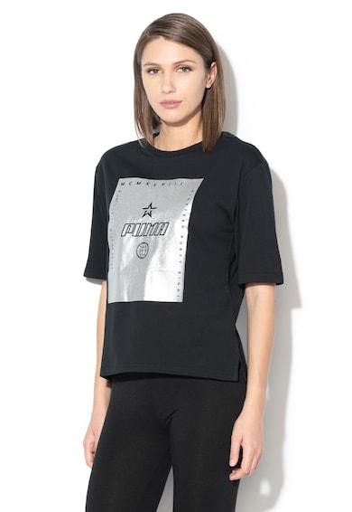 Puma Тениска Trailblazer с гумирано лого и овално деколте Жени