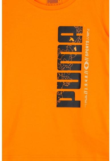 Puma Tricou basic regular fit cu imprimeu logo si Dry Cell Active Sports Baieti