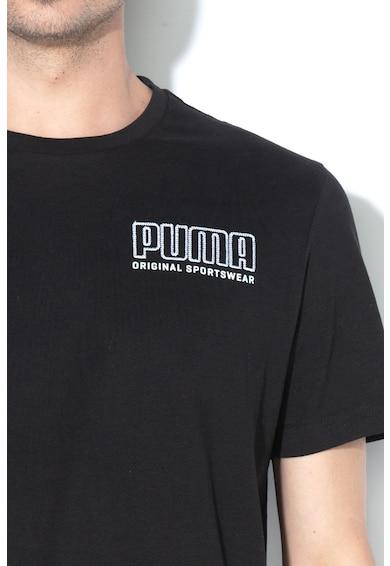 Puma Tricou regular fit cu logo brodat Barbati