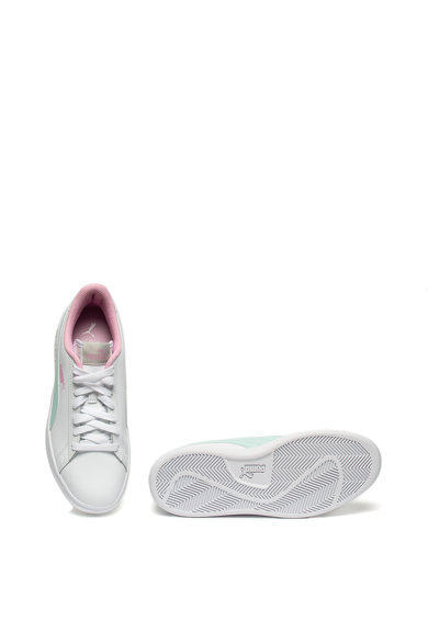 Puma Pantofi sport de piele cu aplicatii de piele ecologica Smash v2 Femei