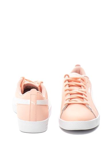 Puma Pantofi sport de piele cu branturi cu amortizare Smash v2 Femei