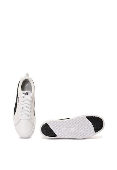 Puma Pantofi sport de piele ecologica cu garnituri de piele intoarsa si platforma Smash Femei