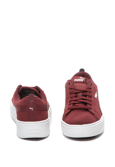 Puma Велурени спортни обувки Smash на равна платформа Жени