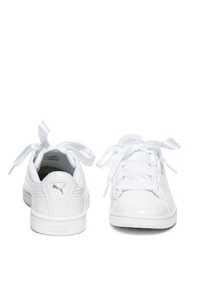Puma Pantofi sport de piele ecologica cu aspect lacuit Vikky Femei