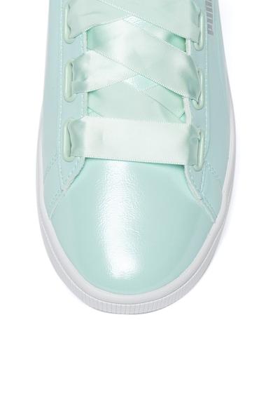 Puma Pantofi sport de piele ecologica cu aspect lacuit Vikky v2 Femei