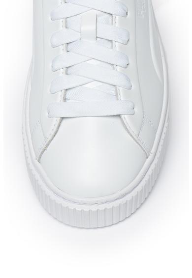 Puma Спортни кожени обувки с лого Жени