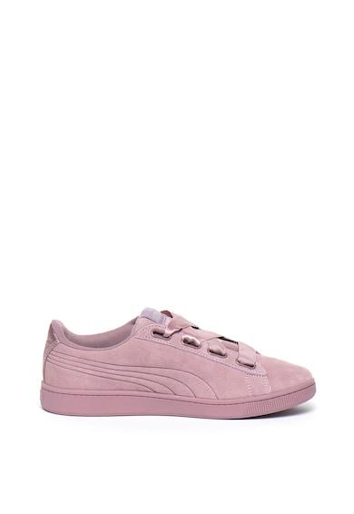 Puma Pantofi sport de piele intoarsa cu imprimeu logo Vikky v2 Ribbon Femei