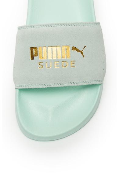 Puma Papuci de piele intoarsa cu logo Leadcat Femei
