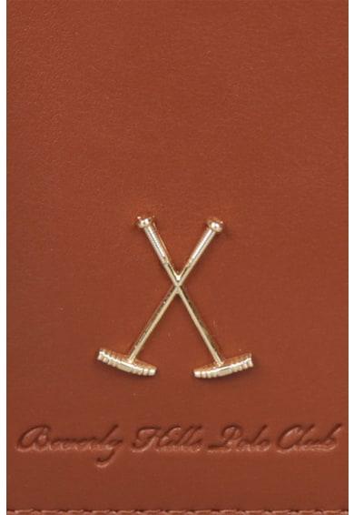 Beverly Hills Polo Club Rucsac de piele saffiano ecologica, cu aplicatie logo Femei