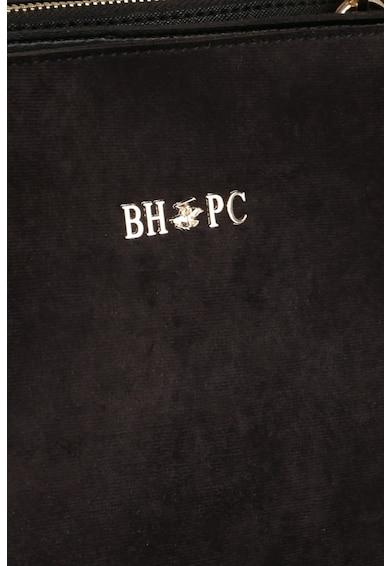 Beverly Hills Polo Club Geanta de piele intoarsa ecologica, cu bareta pentru umar Femei
