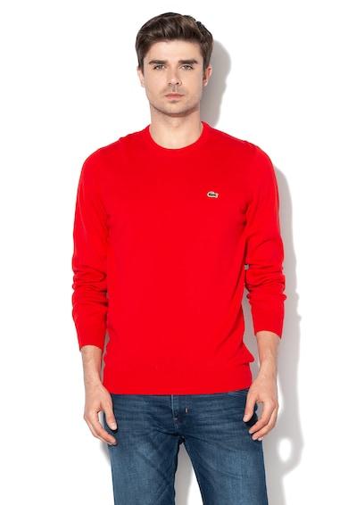 Lacoste Finomkötött pulóver hímzett logóval férfi