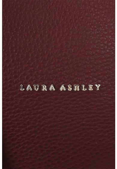 Laura Ashley Geanta de piele ecologica, cu bareta pentru umar si accesoriu cu canaf Femei