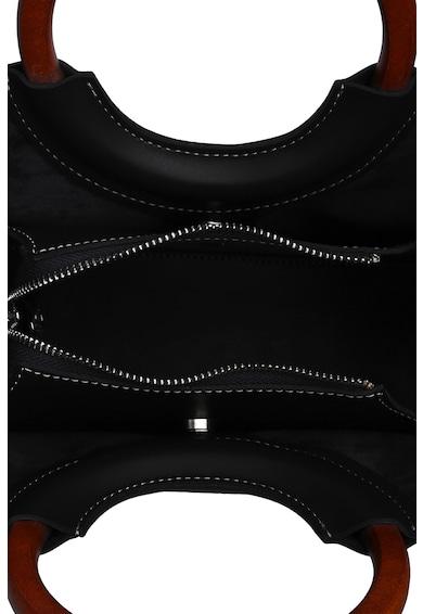 Laura Ashley Műbőr táska dekoratív öltésekkel női