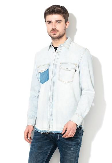 Diesel Дънкова риза Rookie с джобове на гърдите Мъже