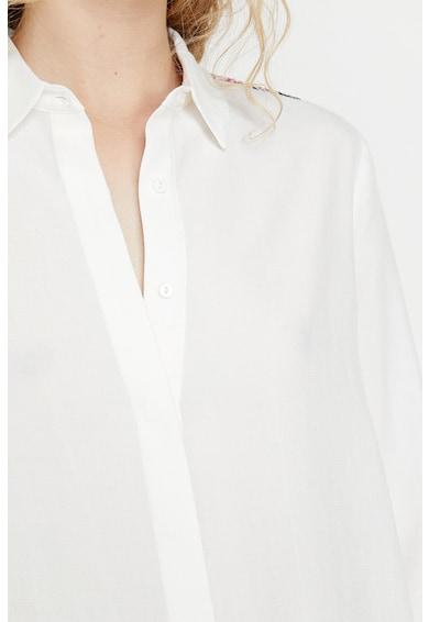 KOTON Camasa din material vaporos cu mansete contrastante Femei