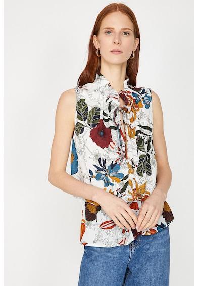 KOTON Блуза без ръкави и флорална щампа Жени