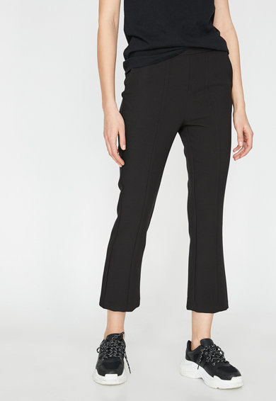 KOTON Pantaloni crop evazati Femei
