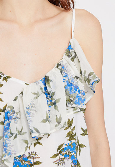KOTON Bluza fara maneci cu imprimeu floral 2 Femei