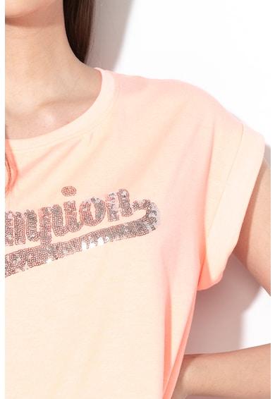 Champion Tricou cu imprimeu logo de paiete Femei