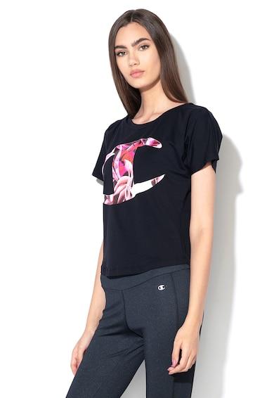 Champion Tricou cu decolteu la baza gatului si imprimeu logo floral Femei