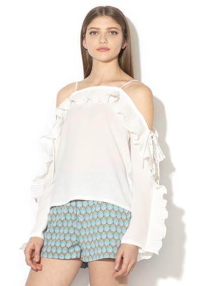 Silvian Heach Collection Bluza vaporoasa cu decupaj pe umeri si volane Takengon Femei