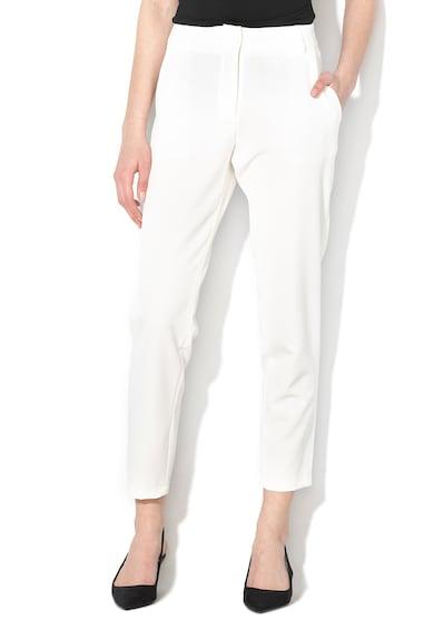 Silvian Heach Collection Pantaloni conici cu buzunare oblice Natural Femei