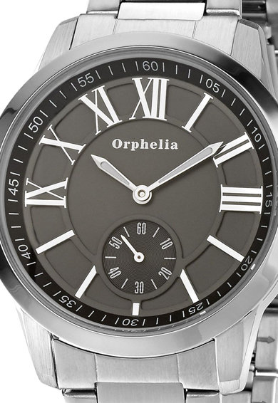 Orphelia Овален аналогов часовник с плетеница на циферблата Мъже