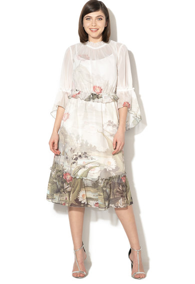 Ted Baker Разкроена рокля Wonderland с набирания Жени