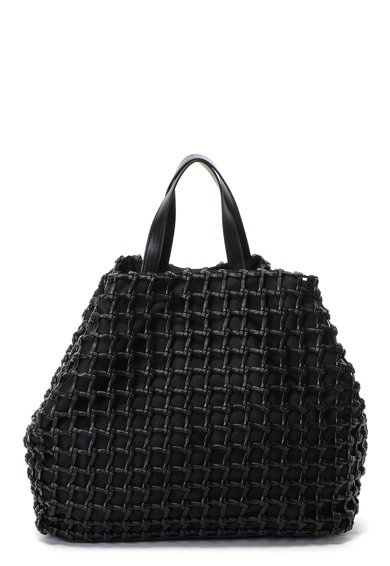 Sisley Geanta shopper de piele ecologica, cu aspect impletit Femei
