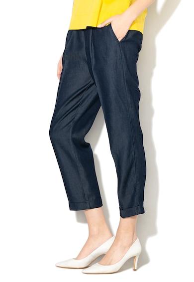 United Colors of Benetton Pantaloni din chambray lyocell cu talie elastica Femei