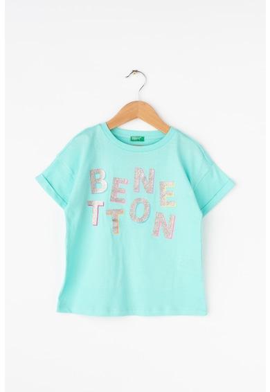 United Colors of Benetton Tricou cu text stralucitor Baieti