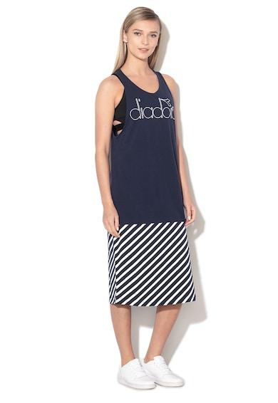 Diadora Rochie cu logo si slit lateral Barra Sporty Femei