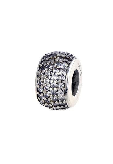 Rankine-Silver Talisman circular de argint, decorat cu cristale zirconia Femei