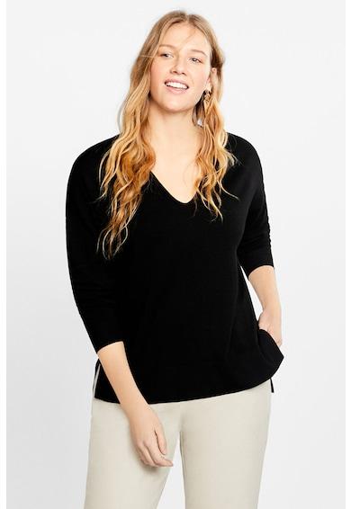 VIOLETA BY MANGO Pulover din tricot fin cu terminatie asimetrica Lisa Femei