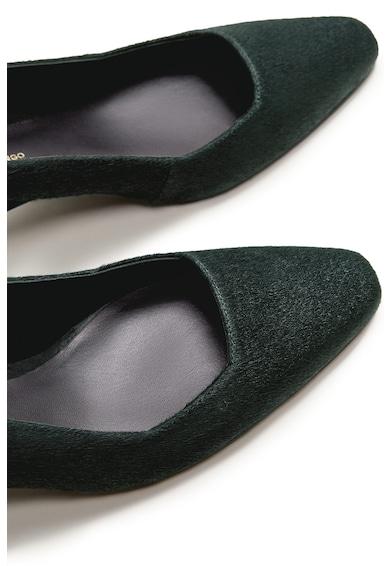 VIOLETA BY MANGO Pantofi slingback de piele cu par scurt Femei
